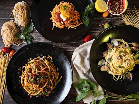 Pasta dishes at Sacci